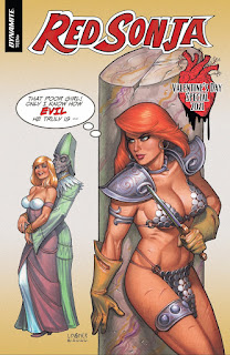 Red Sonja Valentine's Special Cover A by Joseph Michael Linsner