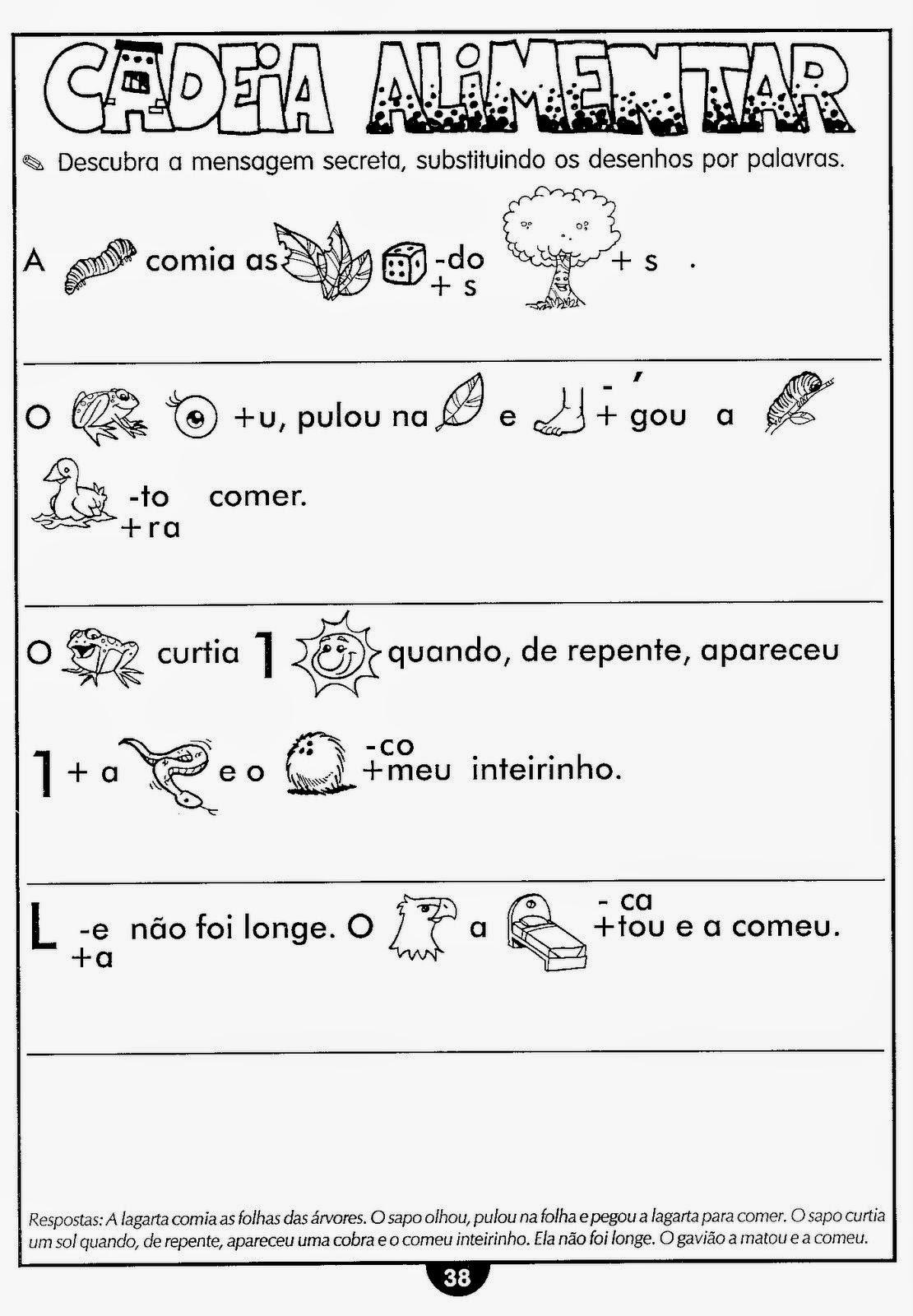 Muito Escola Saber: Atividades de ciências cadeia alimentar WC23