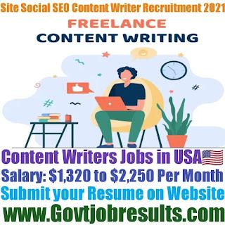 Site Social SEO Content Writer Recruitment 2021-22