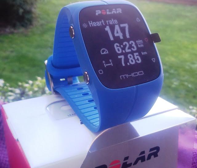 Polar M400 Action Tracker/Gps Running Lookout Alongside Middle Charge Per Unit Of Measurement Sensor!