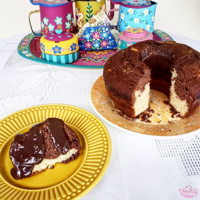 Receita de bolo mesclado simples