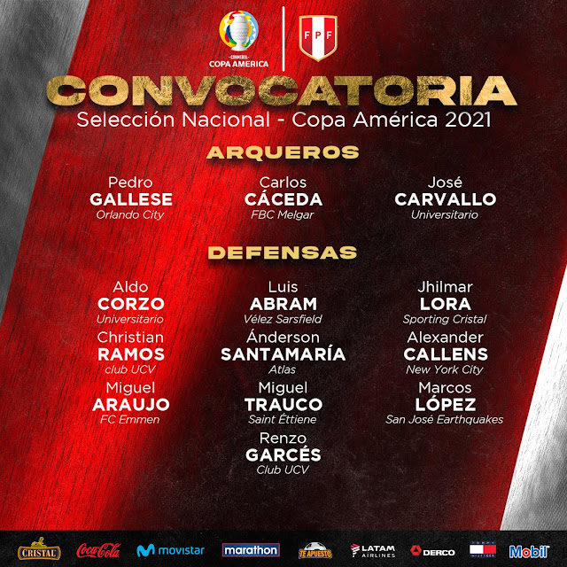 Peru con sus jugadores