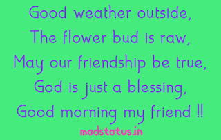 Good Morning status for friends