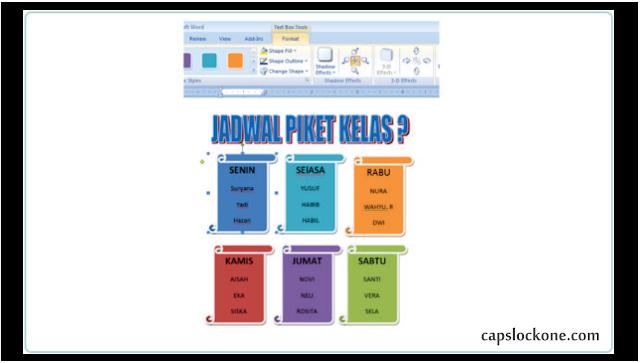 Cara Membuat Jadwal Piket Keren Menggunakan MS Word