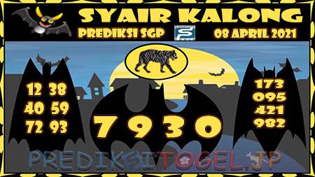 Prediksi Kalong SGP Kamis 08-Apr-2021