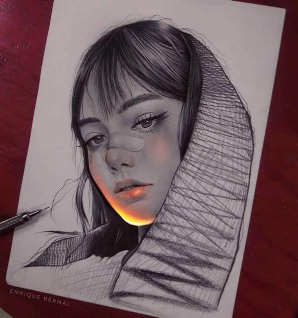 rysunki ze światłem