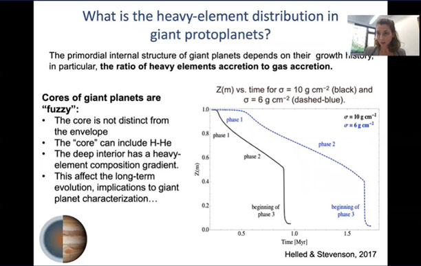 Tracking the location of the heavy elements  (Source: Ravit Helled, U of Z.)