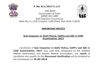 Notice of CPO 2017 Exam