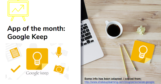 Google Keep: App of the month - Part Two