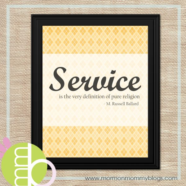 Service is the very definition of pure religion-M. Russell Ballard