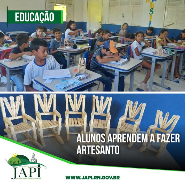 Alunos da Escola Municipal José da Costa aprendem a fazer artesanato