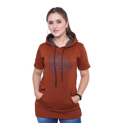 Sweater Hoodie Wanita Catenzo PL 462