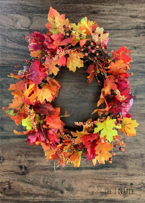 How to make a Fall Grapevine Wreath