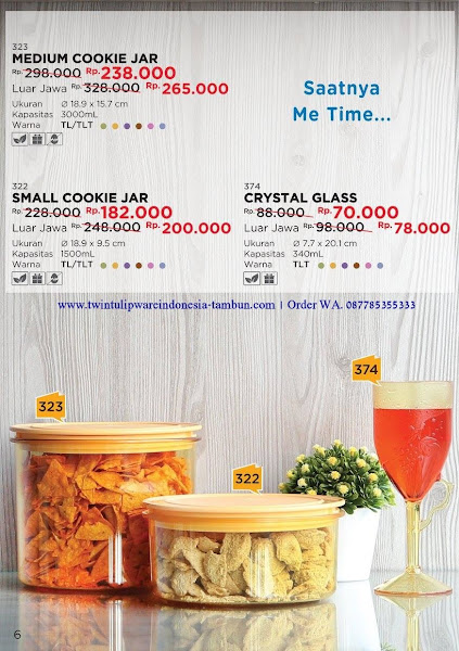 Promo Diskon Tulipware Sep 2017, Medium Cookie Jar, Small Cookie Jar, Crystal Glass