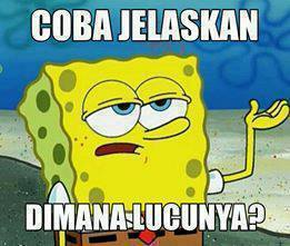 Dp Bbm Gokil Dan Lucu Versi Spongebob Gambar Kata Dp Bbm