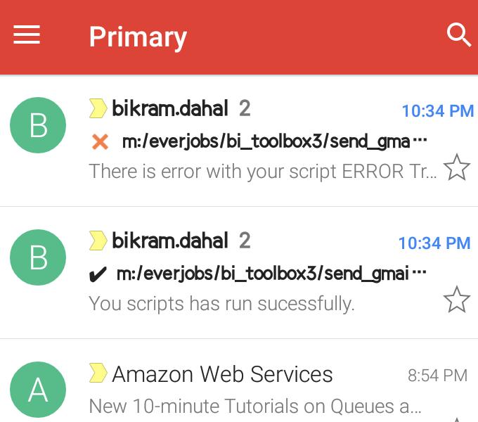 Python and Gmail API | Rpy3