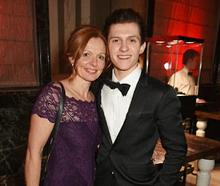 Nicola Elizabeth Frost with her elder son Tom Holland