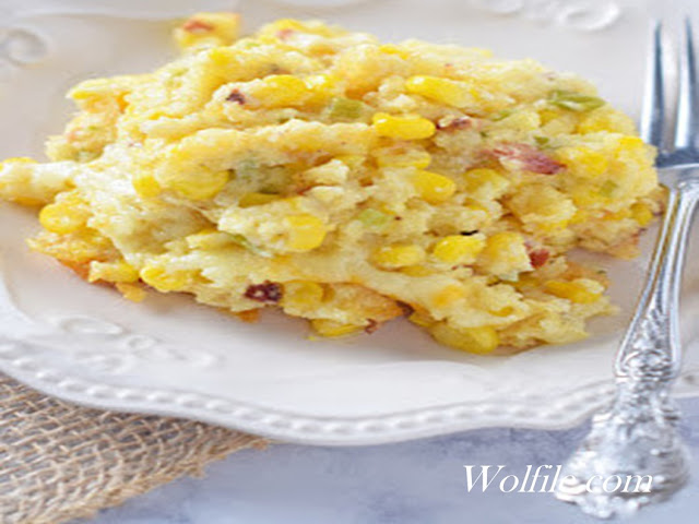 Creamy Bacon Corn Casserole Recipe
