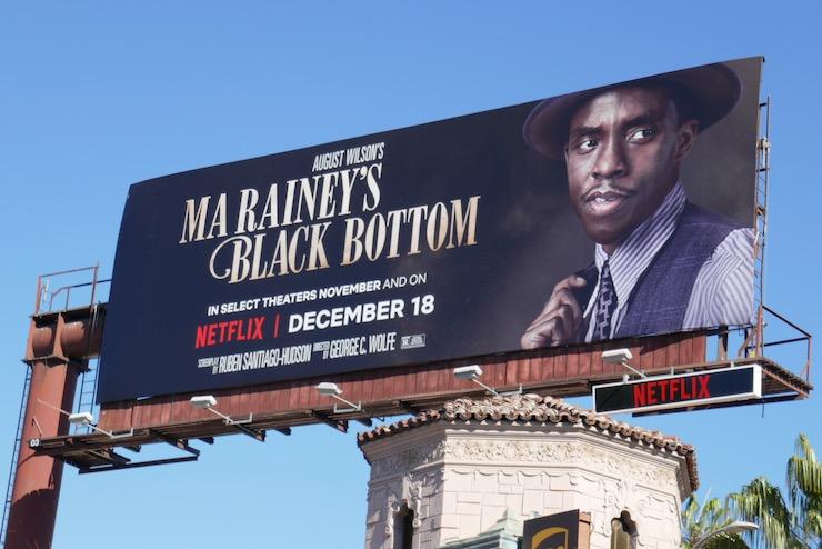 Chadwick Boseman Ma Raineys Black Bottom film billboard