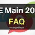 JEE Main 2017 -  Frequently Asked Questions FAQ blog image