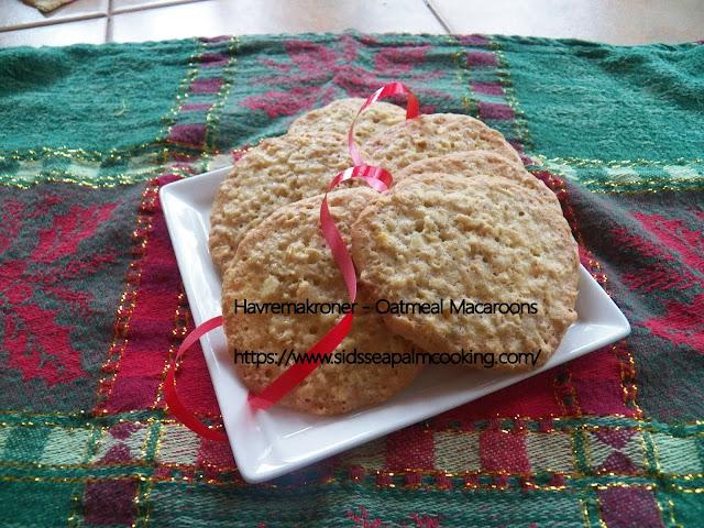 Havremakroner - Oatmeal Macaroons
