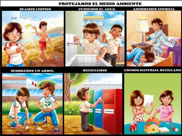 como cuidar el medio ambiente los niños