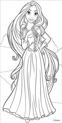 Tranh tô màu nàng công chúa tóc mây 0