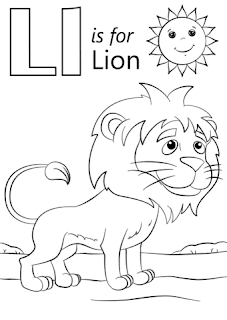 Ll For Lion Coloring Pages Alphabets