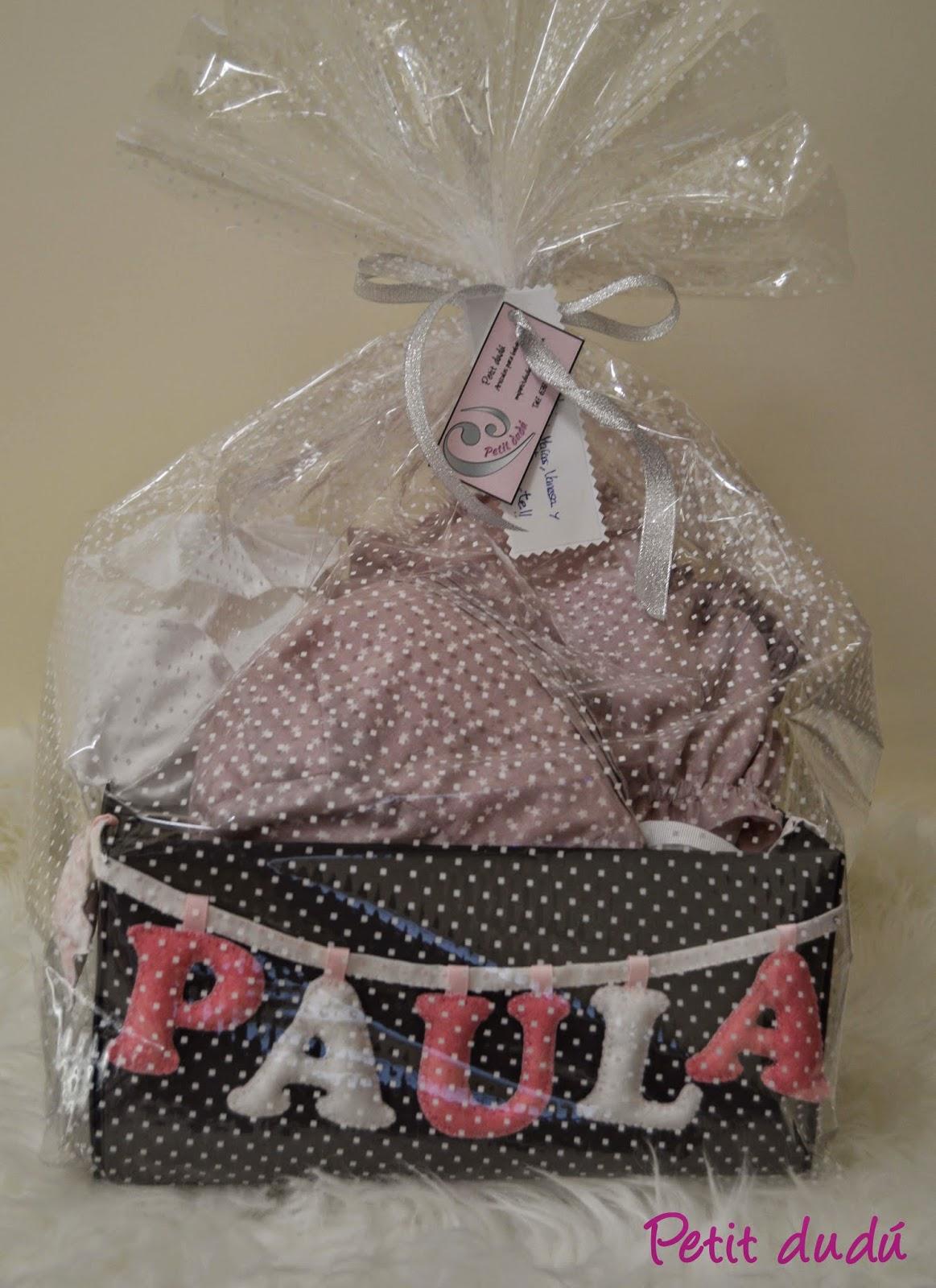 conjunto Cubrepañal blusa y letras petit dudu