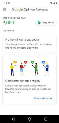 google opinion rewards saldo