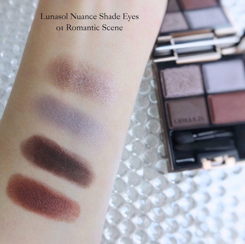 Lunasol Nuance Shade Eyes 01 Romantic Scene swatches