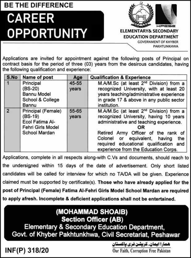 Elementary & Secondary Education Jobs
