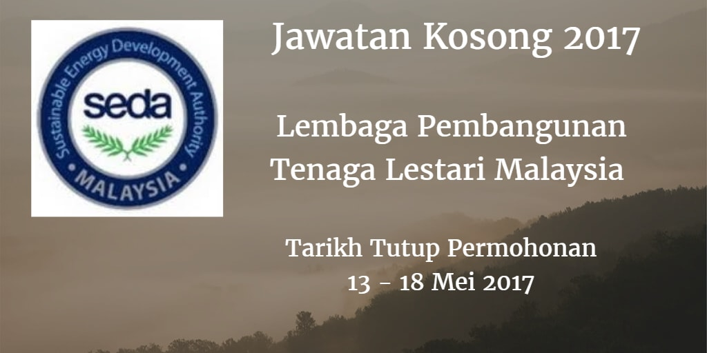 Jawatan Kosong SEDA 13 & 18 Mei 2017