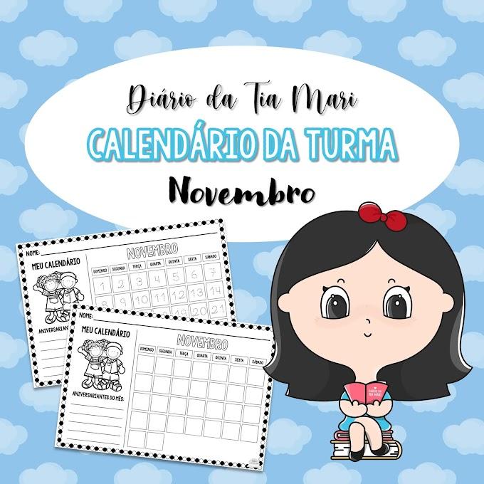 Calendário da Turma - Novembro/2020 (NOVO MODELO)