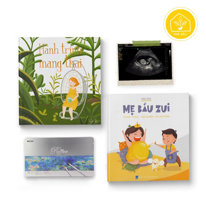[A116] Bộ sách giúp Mẹ Bầu giảm bớt căng thẳng thai kỳ