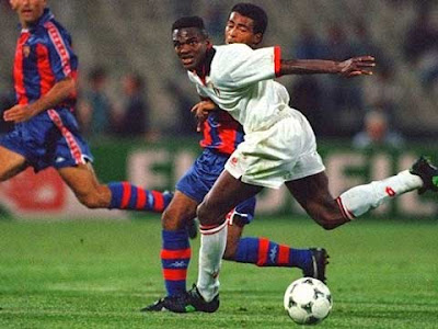 Marcel Desailly in Barcellona-Milan
