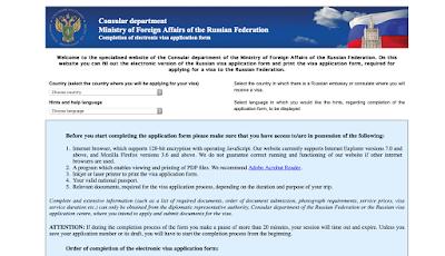 visa rusia aplikasi online