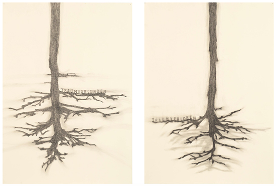 Simon Benson  Traumversunken. Traumverloren, 2005 graphite, pencil on paper 2 x 140 x 100 cm