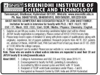 Sreenidhi Institute of Science and Technology 2020