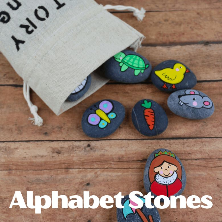 alphabet rock painting ideas for kids