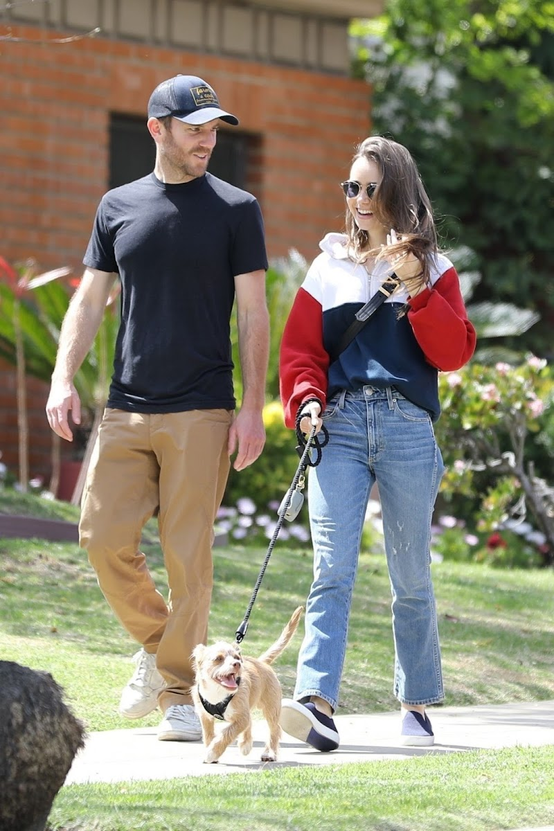 Lily Collins Clicked Outside with Charlie McDowell  in Beverly Hills 7 Apr -2020