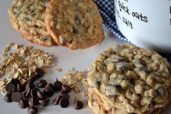 Cowboy cookies chocolate chip oatmeal cookie