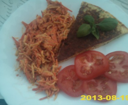 Tortillas courgette basil basil smoked bacon