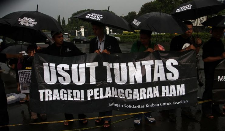 Saat Wiranto Tiba di Banten, Mahasiswa Protes Pelanggaran HAM