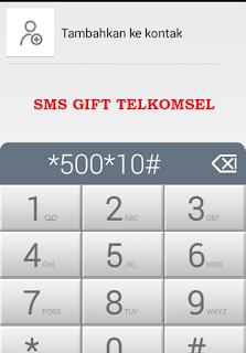 SMS Gift Telkomsel ke Nomor Lain
