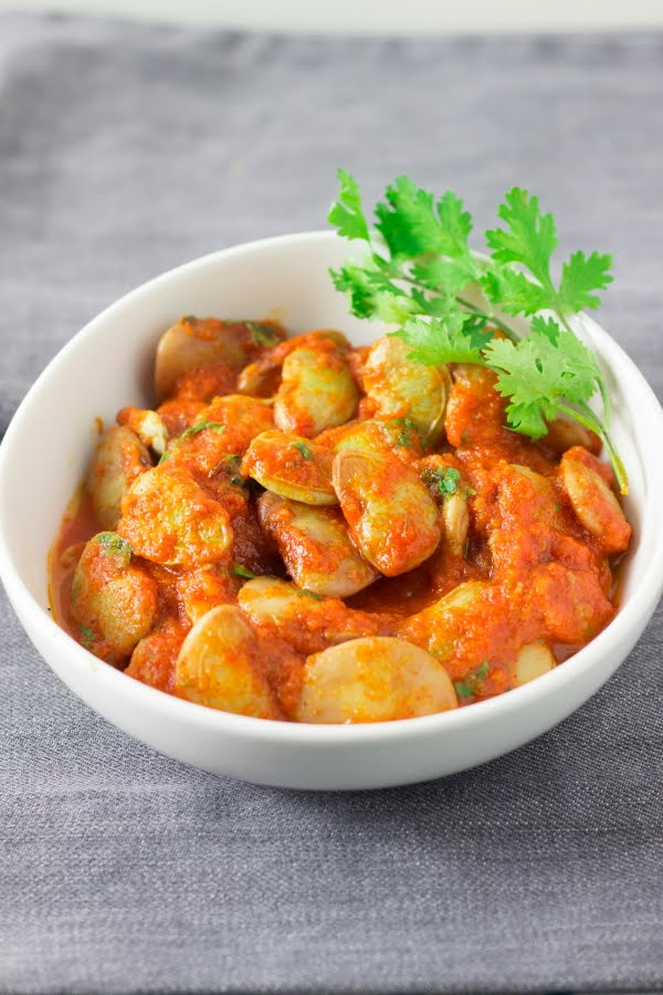 double beans tomato masala gravy sabzi