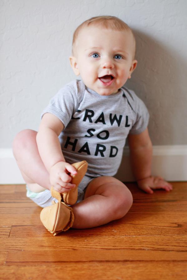 Crawl So Hard onesie
