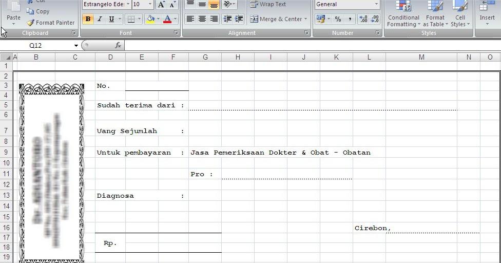 Baca31 Format Kwitansi Dalam Bentuk Excel