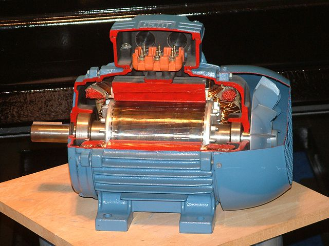 cut away view of an electric motor