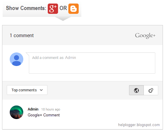 google plus comments, blogger
